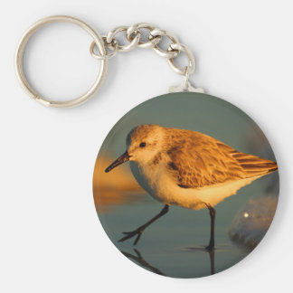 sand piper basic round button key ring