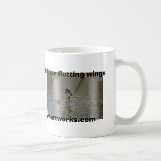 Sand Piper flutting wings kam-artworks... Basic White Mug
