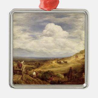 Sand Pits, Hampstead Heath, 1849 Silver-Colored Square Decoration