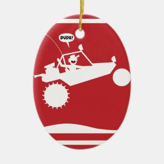 SAND RAIL AIR Warning Signs Christmas Ornament