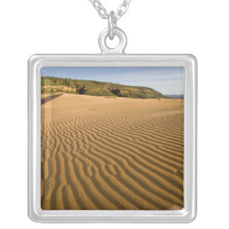 Sand ripples and dunes at Coral Pink Sand 2 Silver Plated Necklace