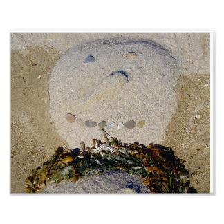 Sand Snowman Photo Art
