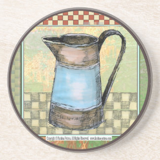 "Sand stone drink coaster ""French country, 4"""
