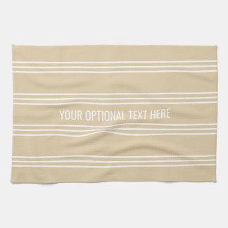 Sand Stripes custom kitchen towel