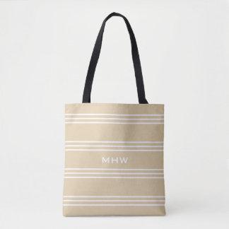 Sand Stripes custom monogram bags