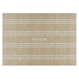 Sand Stripes custom monogram cutting boards