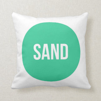 """Sand"" Trendy Graphic Pillow"