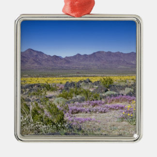 Sand Verbena & Desert Gold at Amboy Crater, CA, Christmas Ornament