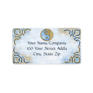 Sand & Water Yin Yang Address Label