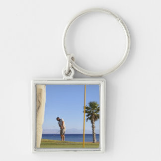 Sand wedge approach, key ring
