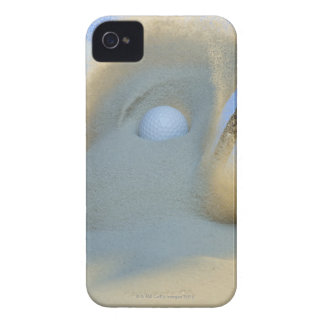 sand wedge hitting a golf ball out of a sand Case-Mate iPhone 4 case