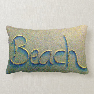 Sand Writing Beach Lumbar Cushion