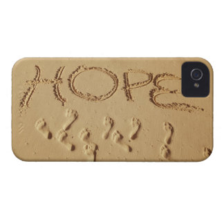 Sand writing ' Hope' on the beach with the iPhone 4 Covers