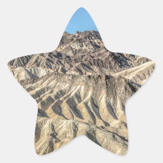 sand zabriskie mointains Death valley california p Star Sticker