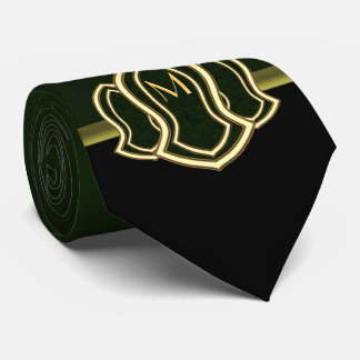 Sandal Of The Prophet (Green) Marble & Gold Tie