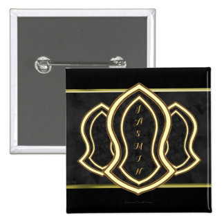 Sandal Of The Prophet (Grey) Marble & Gold 15 Cm Square Badge