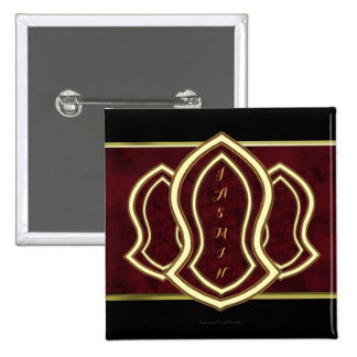Sandal Of The Prophet (Red) Marble & Gold 15 Cm Square Badge