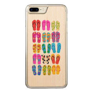 Sandals Colorful Fun Beach Theme Summer Carved iPhone 8 Plus/7 Plus Case