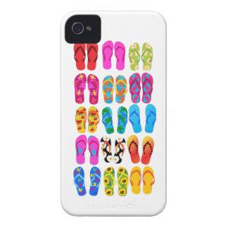 Sandals Colorful Fun Beach Theme Summer iPhone 4 Case-Mate Cases