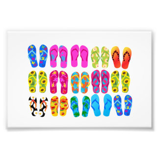 Sandals Colorful Fun Beach Theme Summer Photo
