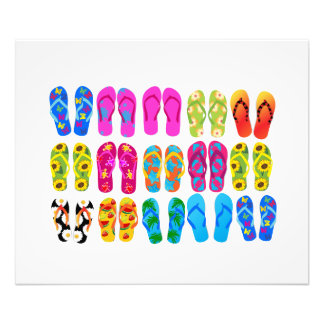 Sandals Colorful Fun Beach Theme Summer Photo Art