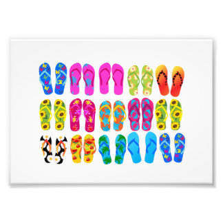 Sandals Colorful Fun Beach Theme Summer Photo Print