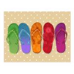 Sandals flip-flops beach party - sand dots