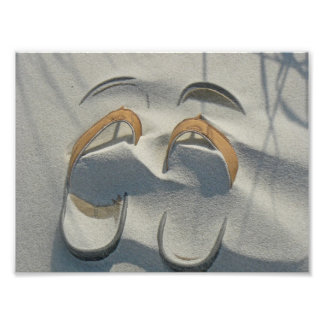 Sandals in the Sand Print Art Photo
