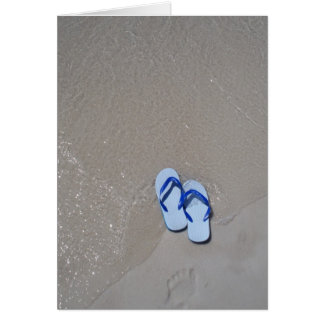 Sandals on Panama City Beach Card