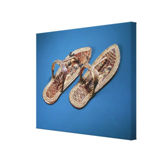 Sandals, Tomb of Tutankhamun, New Kingdom Canvas Print