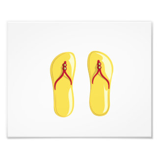 sandals yellow red beaded strap.png photo art