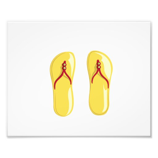 sandals yellow red beaded strap.png photo