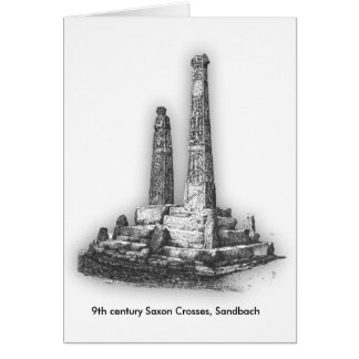 Sandbach Crosses Greeting Card, envelope included Card