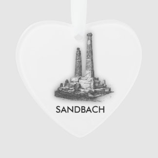 Sandbach Crosses Heart Ornament