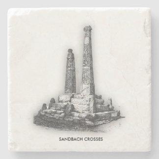 Sandbach Crosses Marble Stone Coaster