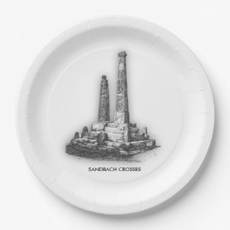 Sandbach Crosses Paper Plates 9 Inch Paper Plate