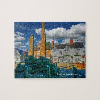 "Sandbach Saxon Crosses 110 pcs Jigsaw Puzzle 8x10"""