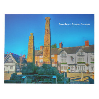 "Sandbach Saxon Crosses Notepad 40 pg 11"" x 8.5"""