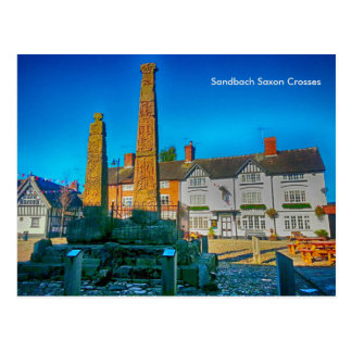 Sandbach Saxon Crosses Postcard