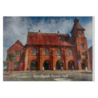 "Sandbach Town Hall Glass Chopping Board 11"" x 8"""