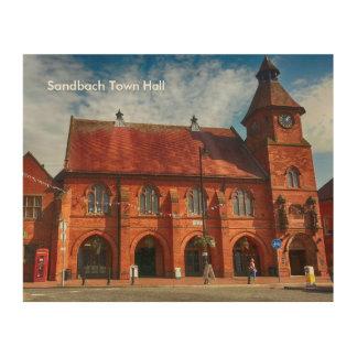 "Sandbach Town Hall Wood Wall Art 10"" x 8"""