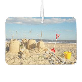 Sandcastle At Beach Car Air Freshener