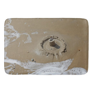 Sandcastle bath mat