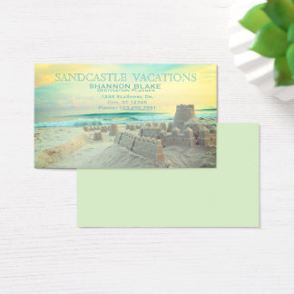 Sandcastle Beach Landscape Vacation Business Card
