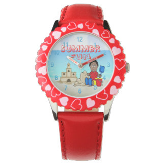 Sandcastle (Black Boy) Kid's Adjustable Bezel Watc Watch