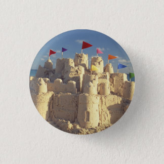 Sandcastle On Beach 3 Cm Round Badge