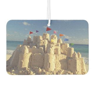 Sandcastle On Beach Car Air Freshener
