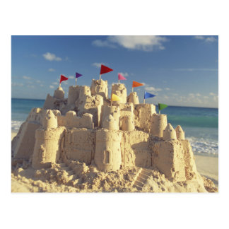 Sandcastle On Beach Postcard