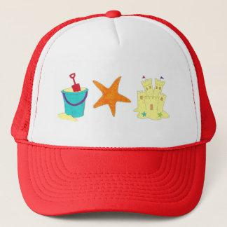 Sandcastle Sand Castle Starfish Pail Beach Ocean Trucker Hat