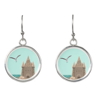 Sandcastle Seagull drop earrings